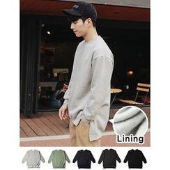 STYLEMAN - Fleece-Lined Round-Neck T-Shirt