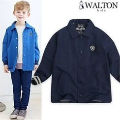 WALTON kids - Kids Contrast-Trim Snap-Button Jacket