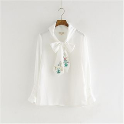 Storyland - Long-Sleeve Embroidery Blouse
