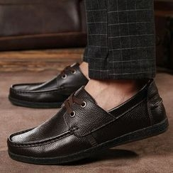 MARTUCCI - Genuine-Leather Lace-Up Deck Shoes