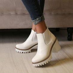 JY Shoes - Block Heel Chelsea Boots