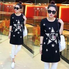 Yvette - Star Print Long-Sleeve Tunic