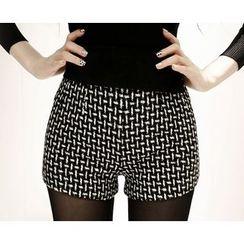 Marlangrouge - Color-Block Patterned Shorts