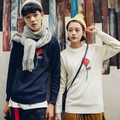 Ciomom - Couple Matching Embroidered Sweater
