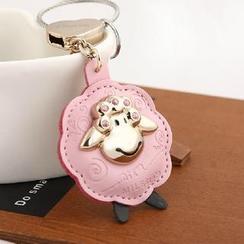 MILESI - Rhinestone Sheep Keychain