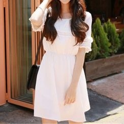 Angel Shine - Short-Sleeve A-Line Dress