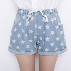 Angel Shine - Star Denim Shorts