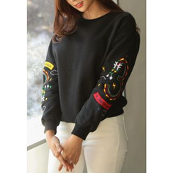 REDOPIN - Round-Neck Embroidered Pullover