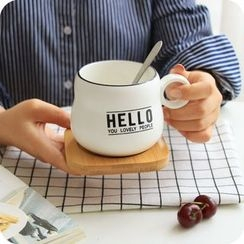 CHITO - Lettering Coffee Cup with Spoon