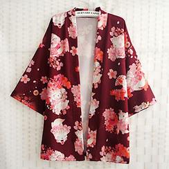Rega - Cherry Blossom Print Kimono Jacket