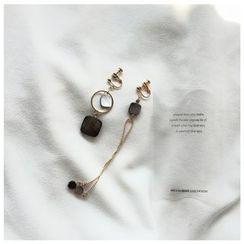 Momi K - Non Matching Paua Shell Earrings