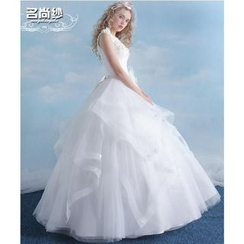 MSSBridal - Sleeveless Ball Gown Wedding Dress