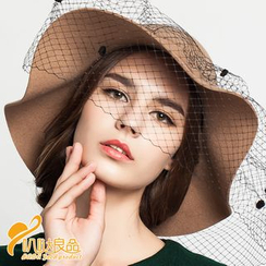 BADA - Pom Pom Felt Hat