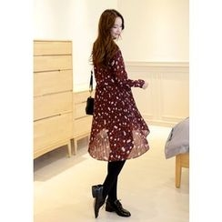 DEEPNY - Floral Print Chiffon Dress