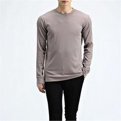 THE COVER - Round-Neck Ribbed T-Shirt