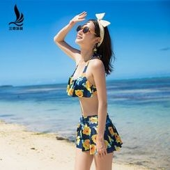 rosiwini - Set: Floral Bikini + Skirt