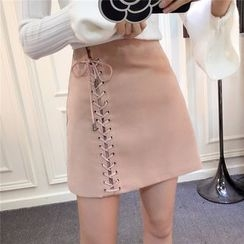 RUI - Lace-Up A-Line Skirt
