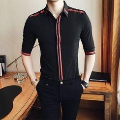 Simsam - Striped Elbow-Sleeve Shirt