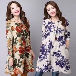 Splashmix - Long-Sleeve Floral Dress