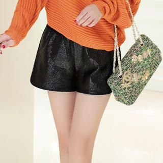 JK2 - Sequin-Accent Shorts
