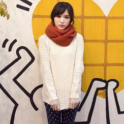 Tokyo Fashion - Scoop-Neck Waffle-Knit Sweater
