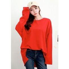 Dalkong - Round-Neck Oversized T-Shirt