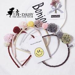 March Daisy - 棉球網紗球球頭箍