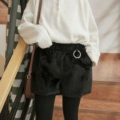 MePanda - Plain Wide Leg Shorts