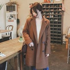 mimi&didi - Double-Breasted Wool Blend Coat