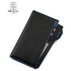 MR.BLUE - Contrast Trim Long Wallet