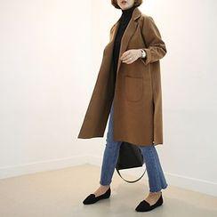 STYLEBYYAM - Notched-Lapel Open-Front Coat