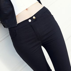Hyoty - High-Waist Skinny Pants