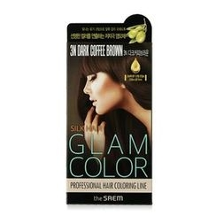 The Saem - Silk Hair Glam Color Cream (#3N Dark Coffee Brown)