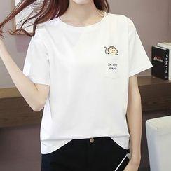 Adima - Print Short-Sleeve T-shirt