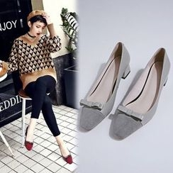 Sesame - Bow Genuine Leather Pumps
