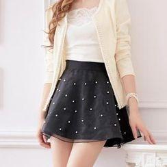 Tokyo Fashion - Tulle Overlay Beaded Skirt