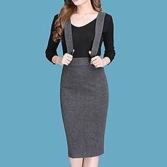 Manilu - High-Waist Jumper Skirt