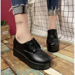 Simply Walk - Lace-Up Platform Shoes