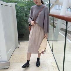 VeryBerry - Pleated Midi Skirt