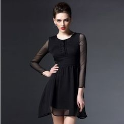 Elabo - Chiffon A-Line Dress
