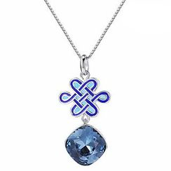 Italina - Swarovski Elements Chinese Knot Pendant Necklace