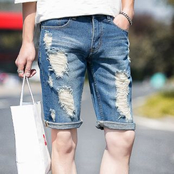 Gurun Vani - Distressed Denim Shorts