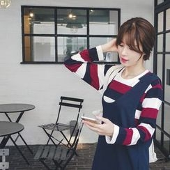 mimi&didi - Round-Neck Striped T-Shirt