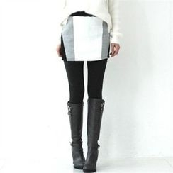 GLAM12 - Inset Color-Block Skirt Leggings