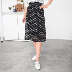 59 Seconds - Polka Dot Midi Skirt