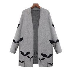 Sugar Town - Patterned Chunky Cardigan