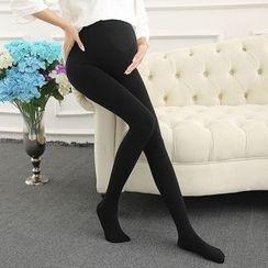 Hearty Bliss - Maternity Velvet Leggings