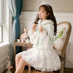 Candy Rain - 3/4-Sleeve Woolen Jacket