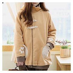 Sechuna - Fleece-Lined Zip-Up Coat