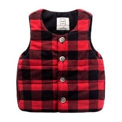 DEARIE - Kids Plaid Padded Vest